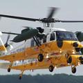 UH-60J 展示飛行 48-4559+4575 千歳救難隊 2004.08(1)