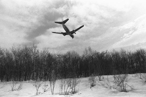 千歳 B737-281 ANA Rwy18L approach 1978.03