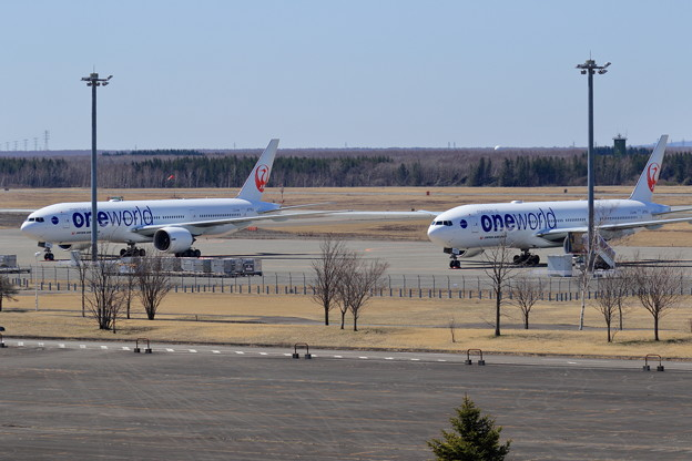Boeing 777 JAL OneWorldが2機stay