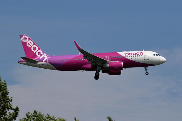 A320 JA15VA Peach colorになって