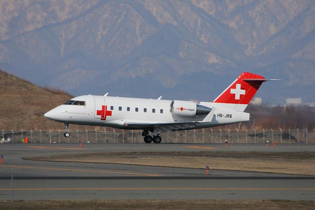 Challenger 604 HB-JRB Swiss Air Ambulance 2007.04