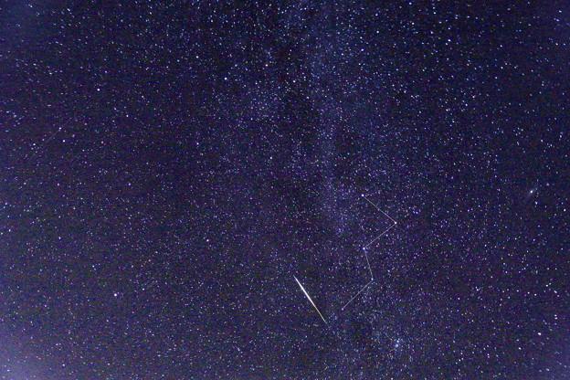 ペルセウス座流星とカシオペア座 (1)