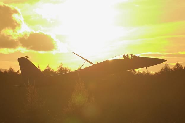 F-15J 夕焼け approach