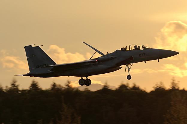 F-15DJ 夕焼け approach
