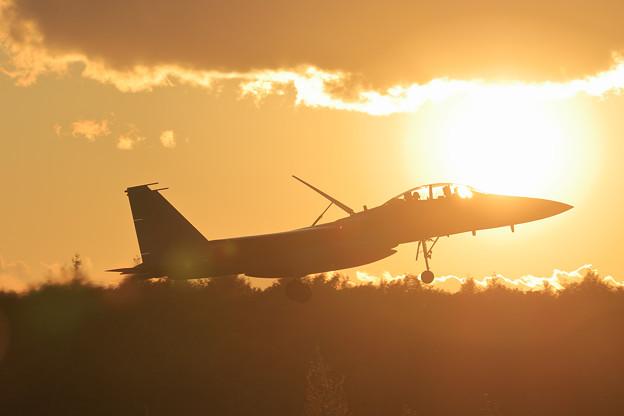 F-15DJ 夕陽