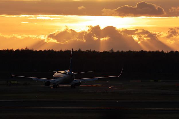 Boeing 737 夕陽の光芒