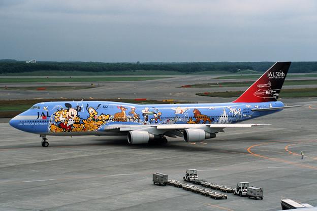 Photos: B747-446 JA8083 JAL50th anniversary 2001 (1)
