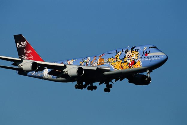 Photos: B747-446 JA8083 JAL50th anniversary 2001 (4)