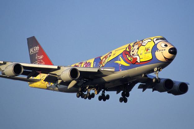 B747-446 JA8084 JAL 50th anniversary 2001