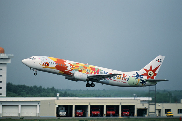 B737-400 JA8994 JAL Phoenix Express Miyazaki 2001