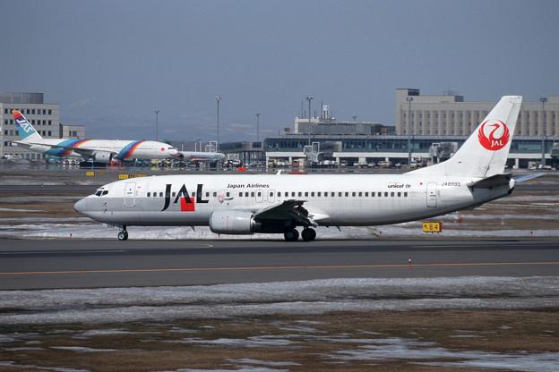 B737-400 JA8995 JAL Flower Jet 2001