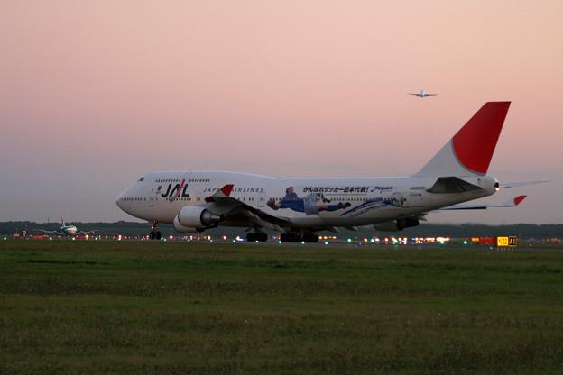 B747-446 JA8909 JAL World Cup予選応援2005.09