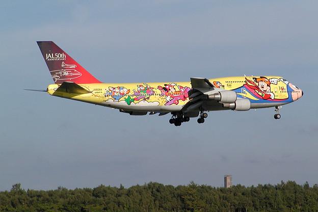 B747-446 JA8084 JAL 50th anniversary 2002