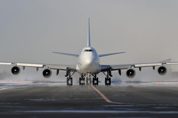 2021初撮りBoeing747-400F N405KZ(1)