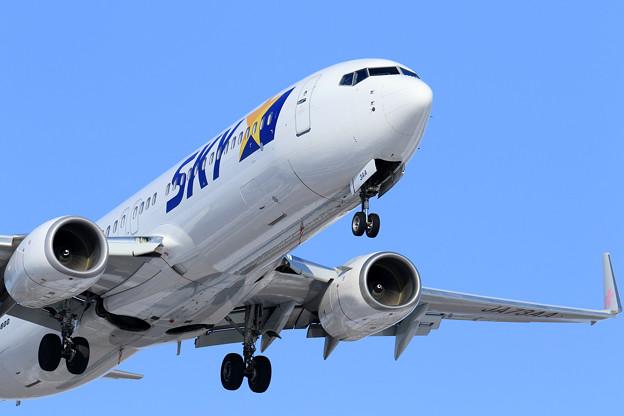 Boeing737-800 JA73AA SKY711 approach