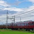 写真: 田原本線 マルーンレッド