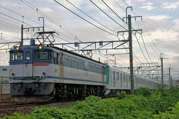 メトロ甲種輸送【EF65 2076牽引】