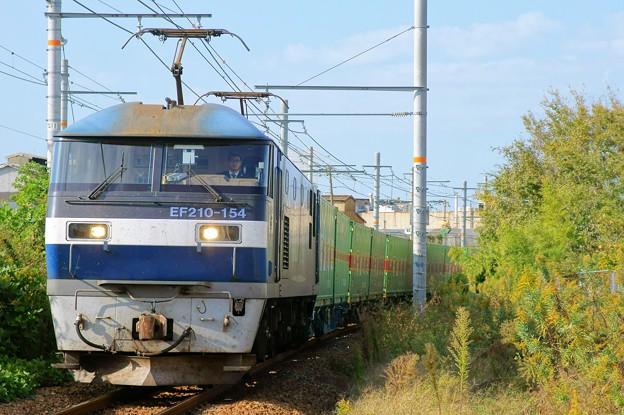 56レ【EF210-154牽引】