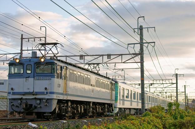 メトロ甲種輸送【EF65 2093牽引】