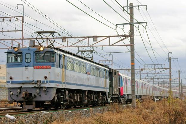 都営大江戸線 甲種輸送【EF65 2138牽引】