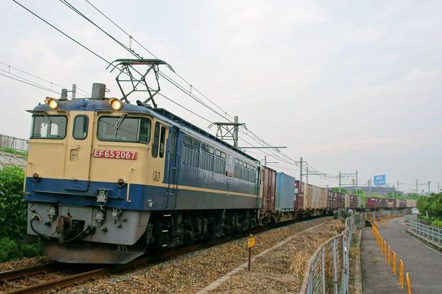 74レ【EF65 2067牽引】