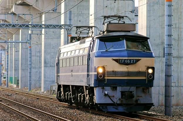 Photos: 配6866レ【EF66 27単機】