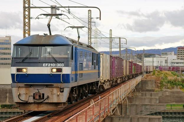 1086レ【EF210-303牽引】
