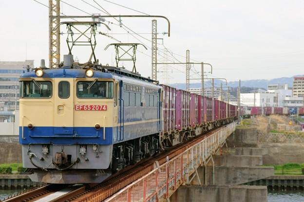 5087レ【EF65 2074牽引】