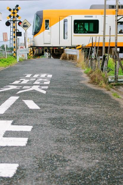 近鉄特急@地元の踏切