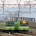 Photos: 201系並び おおさか東線