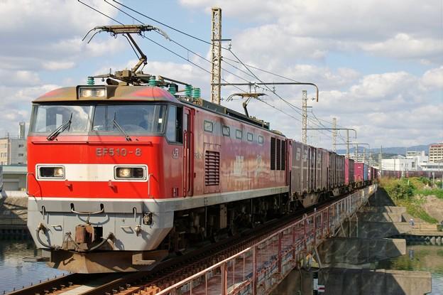 83レ【EF510-8牽引】