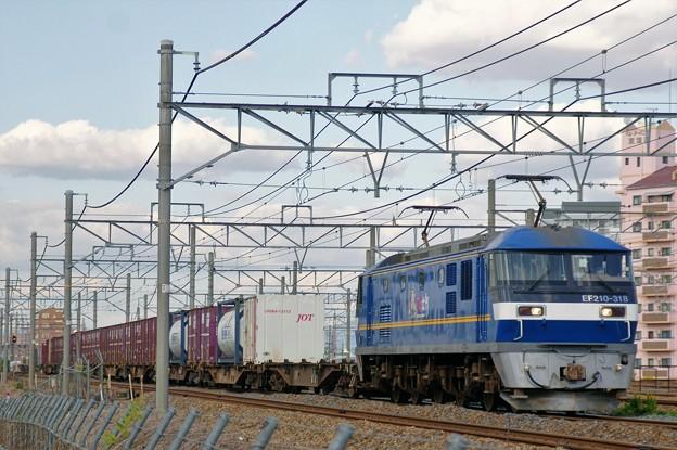 5085レ【EF210-318牽引】