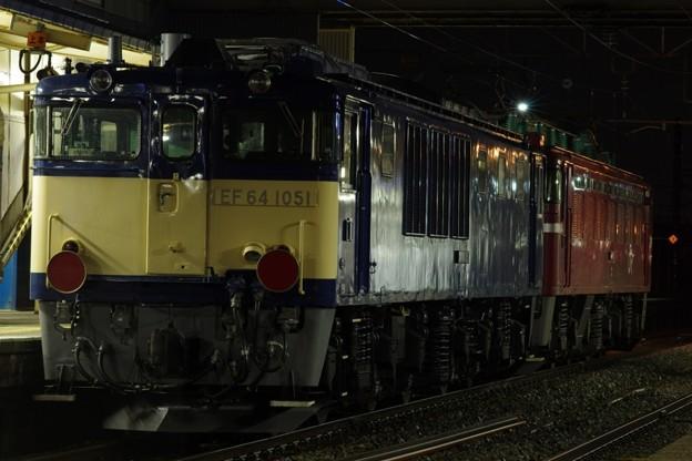 EF81 151牽引 EF64 1051AT出場配給(後追い)