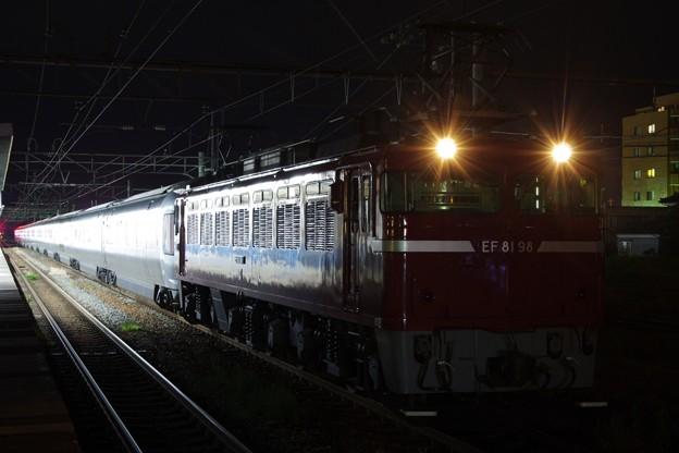 "EF81 98+E26系""カシオペア"" カシオペア紀行 返却回送"