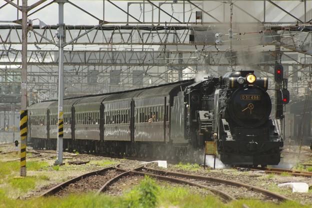D51 498+旧型客車5B+EF64 37 SL本物の出会い栃木号