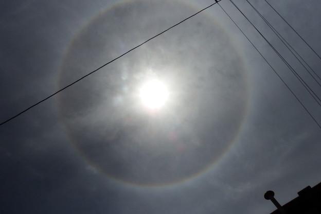 写真: 日暈(ひがさ、にちうん)