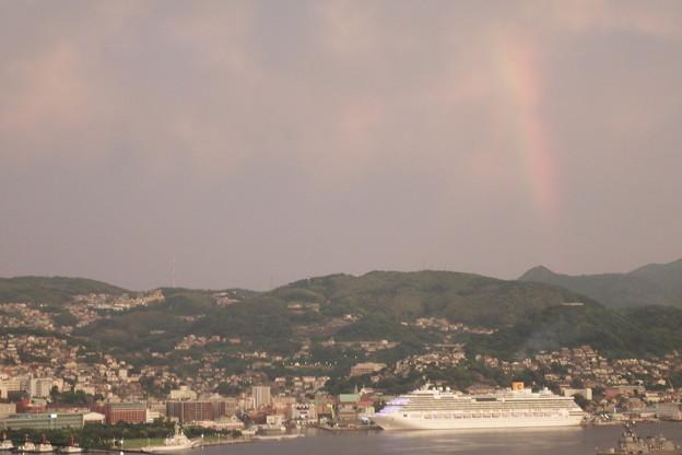 写真: 虹とコスタ・セレーナ