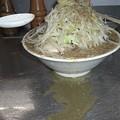 写真: スープ決壊