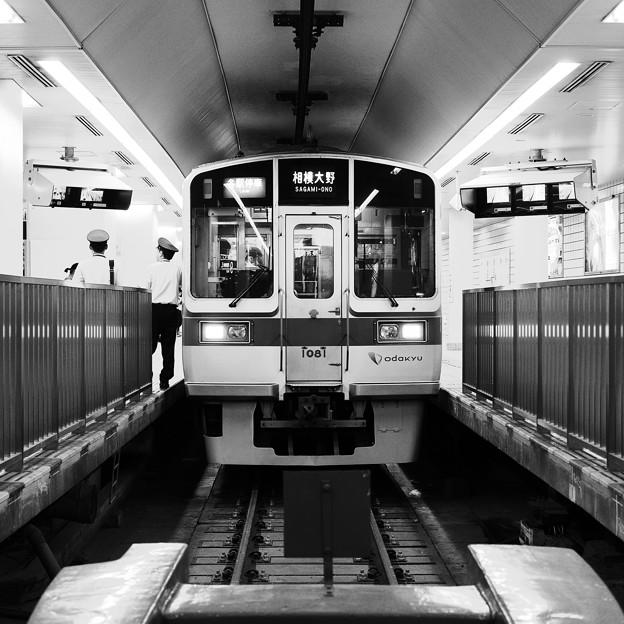 小田急線新宿駅地下ホーム