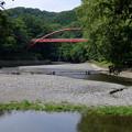 写真: やって来ました飯能河原