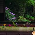 縁側の活け花