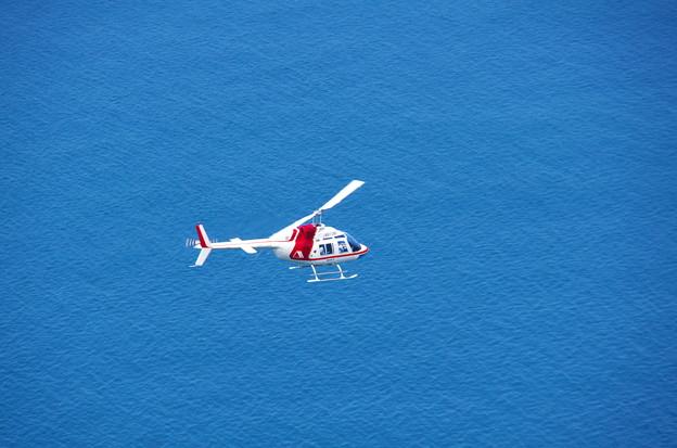 海上を飛ぶ