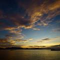 写真: 賑やかな夕空
