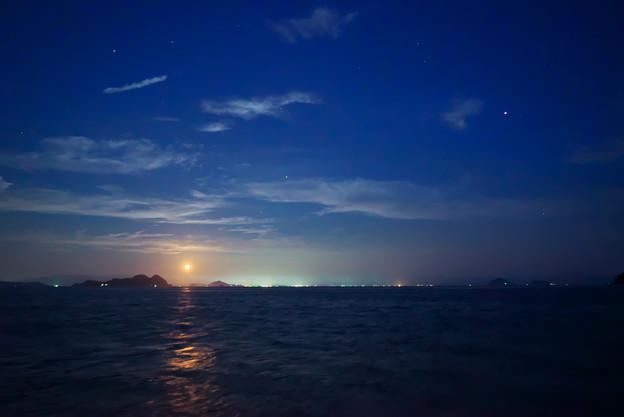 松山の夜空