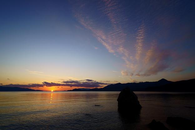 夕陽を見つめて