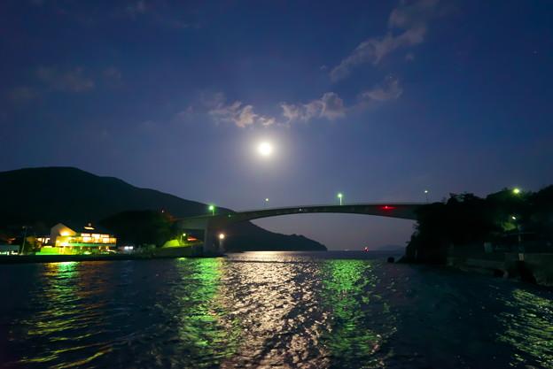 月夜の上関大橋