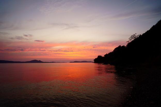 岬の夕焼け