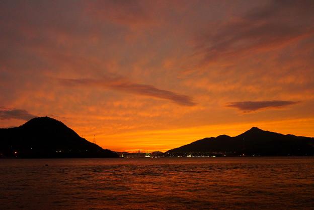 大島大橋の夕空 2