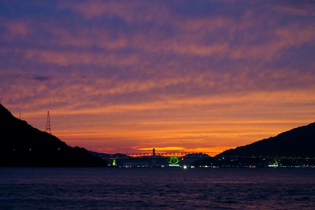 大島大橋の夕空 3
