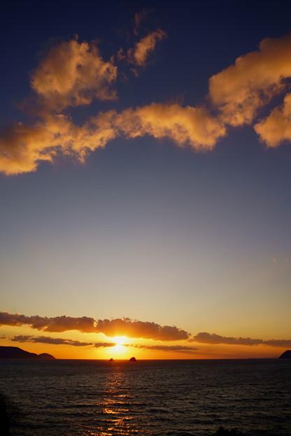叶島の夕空